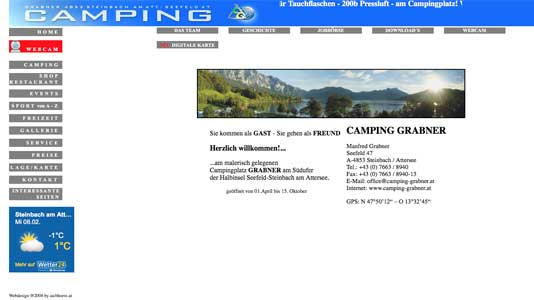 Camping Grabner Steinbach / Attersee