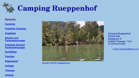 Camping Rueppenhof Thiersee
