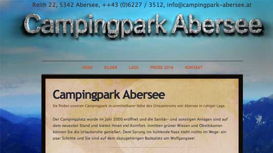 Campingpark Abersee St.Gilgen/Abersee