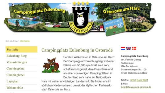 Camping Eulenburg Osterode am Harz