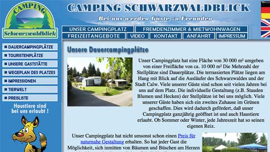 Camping Schwarzwaldblick in Calw Calw
