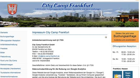 City Camp Frankfurt  Frankfurt am Main