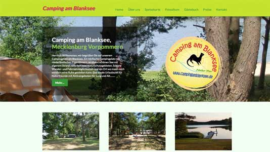Camping am Blanksee Siggelkow OT Klein Pankow