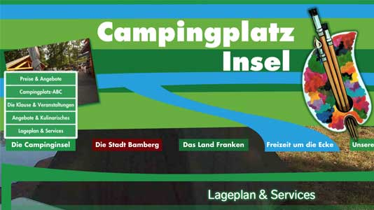 Campinginsel Bamberg Bug