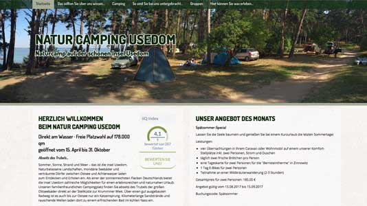 Natur Camping Usedom Lütow / Insel Usedom