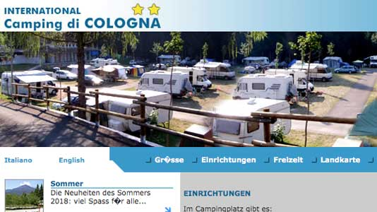 Camping International di Cologna Vallesella di Cadore