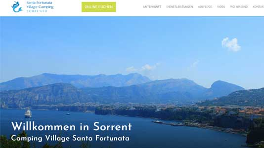 Santa Fortunata Village Camping  Sorrento
